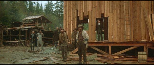 The town of Presbyterian Church under construction in Robert Altman's McCabe & Mrs Miller (1971)
