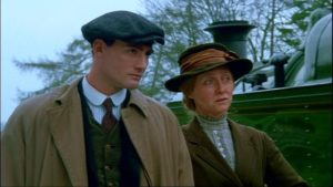Lewis with his mother, Mary, waiting for Benjamin to return from the war in Andrew Grieve's film of Bruce Chatwin's On the Black Hill (1988)