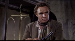 Rio, the casual outlaw, in the opening bank robbery in Marlon Brando's One-Eyed Jacks (1961)