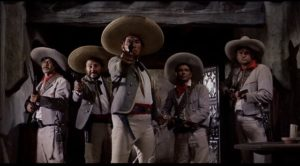 The rurales close in on the gang after the opening bank robbery in Marlon Brando's One-Eyed Jacks (1961)