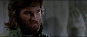 Kurt Russell as cynical anti-hero McCready in John Carpenter's The Thing (1982)