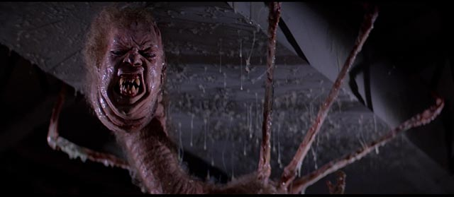 One of the shape-shifting manifestations of the alien in John Carpenter's The Thing (1982)