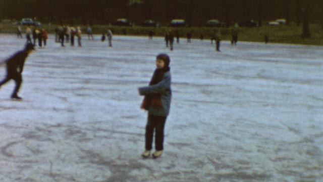 Laurie Anderson skating in an 8mm home movie in Heart of a Dog (2015)