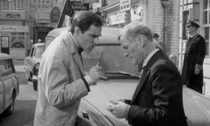 Sammy puts pressure on Harry (Wilfred Brambell) to help find him the money he needs in Ken Hughes' The Small World of Sammy Lee (1963)