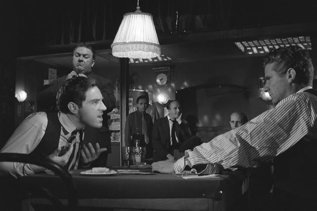 Sammy pleads for a break after an all-night losing streak in Ken Hughes The Small World of Sammy Lee (1963)
