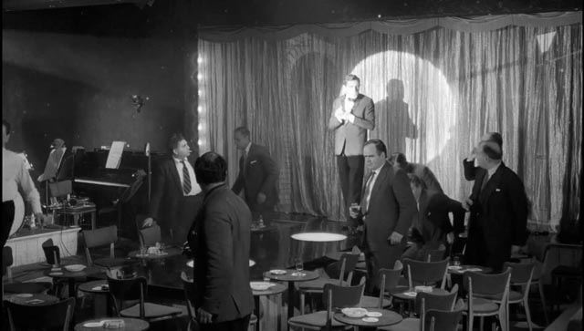 When things seem hopeless, Sammy turns against the customers at the club in Ken Hughes' The Small World of Sammy Lee (1963)