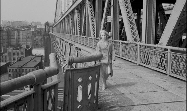 Mary Ann is drawn towards the river looking for release from her trauma in Jack Garfein's Something Wild (1961)