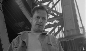... and is saved by Mike (Ralph Meeker) in Jack Garfein's Something Wild (1961)
