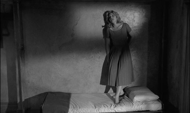 Mary Ann (Carroll Baker) imprisoned by the man who saved her from suicide in Jack Garfein's Something Wild (1961)