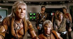 Ricardo Montalban as Trek's favourite villain, Khan, in Nicholas Meyer's Star Trek II: The Wrath of Khan (1982)