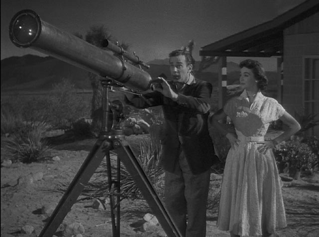 Telescope envy: Richard Carlson and Barbara Rush in Jack Arnold's It Came From Outer Space (1953)