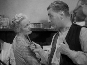 Mary Merrall and George Carney as Mr. and Mrs. Hardcastle in John Baxter's Love on the Dole (1941)
