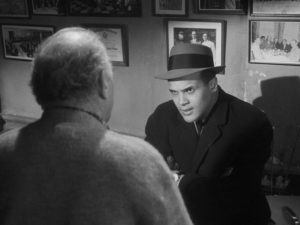 Burke (Ed Begley) proposes the crime to Johnny Ingram (Harry Belafonte) in Robert Wise's Odds Against Tomorrow (1959)