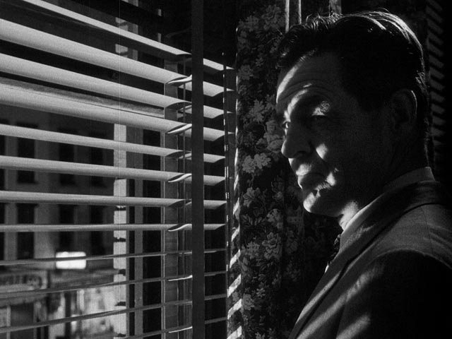 Noir atmosphere in Robert Wise's Odds Against Tomorrow (1959): Robert Ryan as the racist Earle Slater