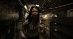 Anya Taylor-Joy as abductee Casey Cooke, trying to escape the lair of the Beast in M. Night Shyamalan's Split (2017)