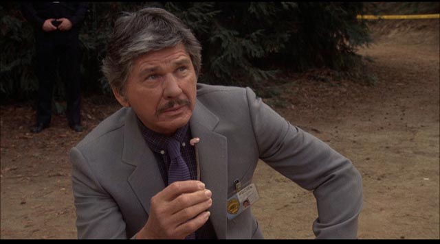 Charles Bronson as Det. Leo Kessler in J. Lee Thompson's 10 to Midnight (1983)