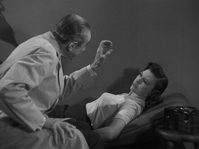 Dr Vornoff Bela Lugosi) uses his hypnotic powers to control Janet Lawton (loretta King)
