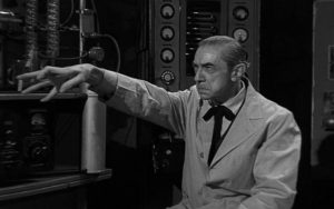 Bela Lugosi displays his amazingly spidery fingers in Edward D. Wood Jr's Bride of the Monster (1955)