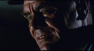 Ernest Borgnine as the sadistic train guard Shack in Robert Aldrich's Emperor of the North (1973)