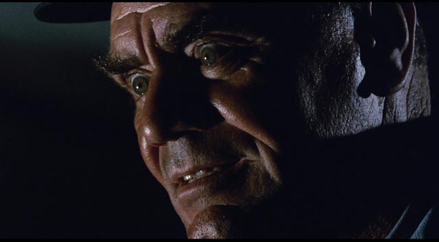 Ernest Borgnine as the sadistic train guard Shack in Robert Aldrich's Emperor of the North (1973)