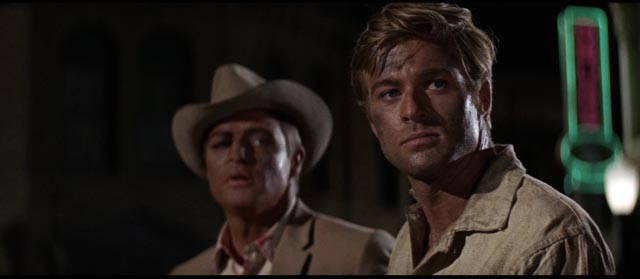 Sheriff Calder bringing in escaped con Bubber (Robert Redford) in Arthur Penn's The Chase (1966)