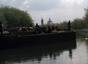 The wedding-day barge trip to Milan in Ermanno Olmi's The Tree of Wooden Clogs (1978)