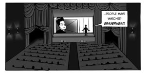A panel from the introductory section of Jon Fairhurst's The Key to Eraserhead