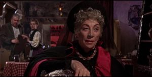 Martita Hunt as the misguided Baroness Meinster in Terence Fisher's Brides of Dracula (1960)