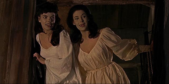 The vampire's brides in Terence Fisher's Brides of Dracula (1960)