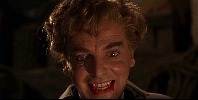 Baron Meinster (David Peel) out for blood in Terence Fisher's The Brides of Dracula (1960)