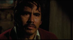 The sympathetic villager who pays a high price for giving the workers shelter in Felipe Cazals' Canoa: A Shameful Memory (1976)