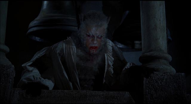 Oliver Reed as the cursed Leon Corledo in Terence Fisher's Curse of the Werewolf (1961)