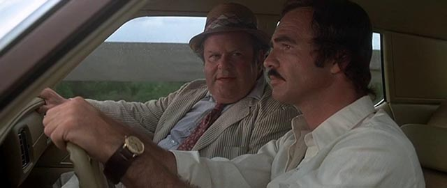 Gator (Burt Reynolds) and agent Greenfield (Jack Weston) in Burt Reynolds' Gator (1976)