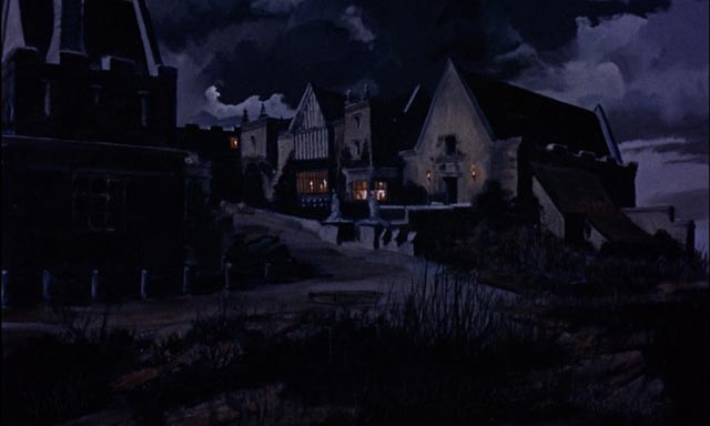 Gloomy Baskerville Hall in Terence Fisher's The Hound of the Baskervilles (1959)