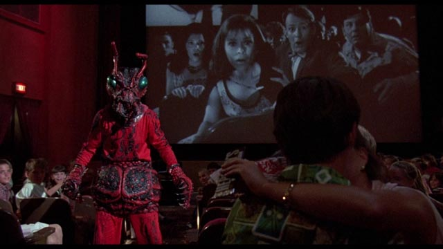 The publicity gimmick starts to go wrong at the premiere of Mant! in Joe Dante's Matinee (1993)