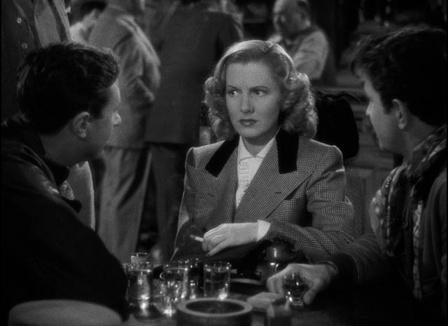 Bonnie takes the minds of a couple of pilots off their work in Howard Hawks' Only Angels Have Wings (1939)