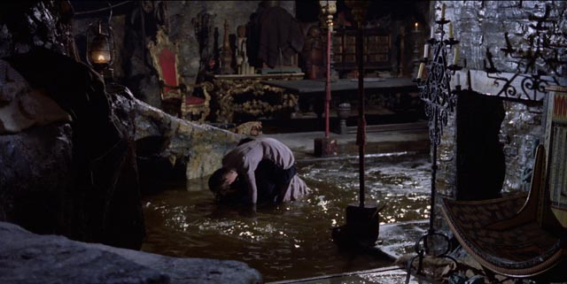 The Phantom's man cave in the sewers beneath the opera house in Terence Fisher's Phantom of the Opera (1962)