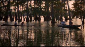 The idyllic setting for brutal murder at the start of Joseph Sargent's White Lightning (1973)