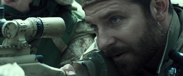 Bradley Cooper stands in for the soul of America damaged by the Iraq war in Clint Eastwood's American Sniper (2014)