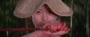Michi Azuma as the vengeful woman O-Yuki in Buichi Saito's Baby Cart in Peril (1972)