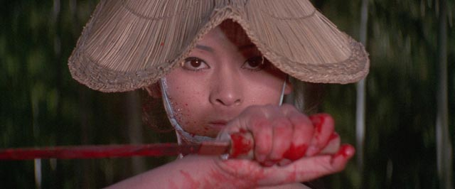 Michi Azuma as the vengeful woman O-Yuki in Buichi Saito's Baby Cart in Peril (1972)