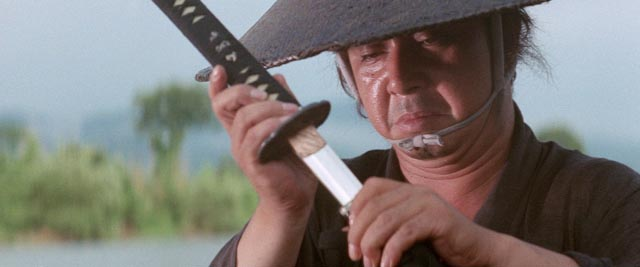 Tomisaburô Wakayama as assassin Itto Ogami in Kenji Misumi's Baby Cart to Hades (1972)