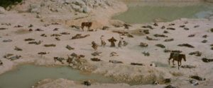 Aftermath of battle in Kenji Misumi's Baby Cart to Hades (1972)