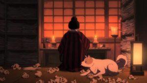 O-Ei at work on her art in Keiichi Hara's Miss Hokusai (2015)
