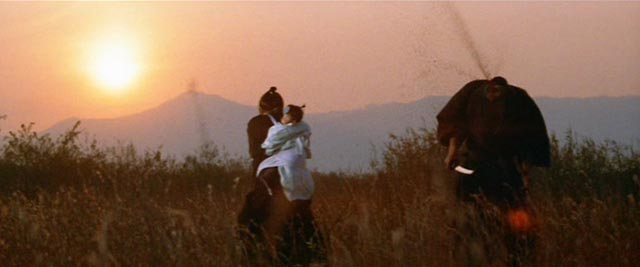 The climactic duel at sunset in Kenji Misumi's Sword of Vengeance (1972)
