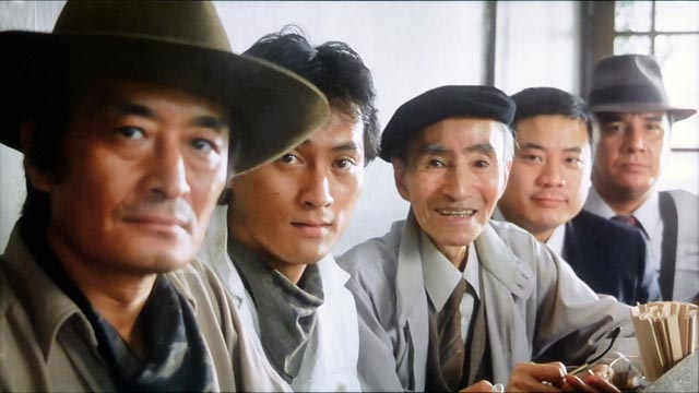 Gorô (Tsutomu Yamazaki) and his team of specialists in Juzo Itami's Tampopo (1985)