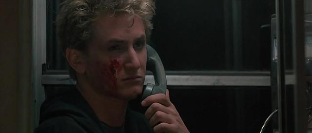 Brad Jr (Sean Penn) tries to act tough like his father in James Foley's At Close Range (1986)