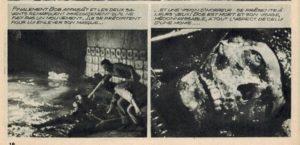 From the French photocomic of Mario Bava & Riccardo Freda's Caltiki: The Immortal Monster (1959)