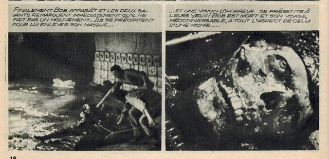 From the French photocomic of Mario Bava & Riccardo Freda's Caltiki: The Immortal Monster (1959)