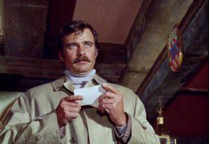 Glenn Corbett as American PI Sandy in Sam Fuller's Dead Pigeon on Beethoven Street (1972)